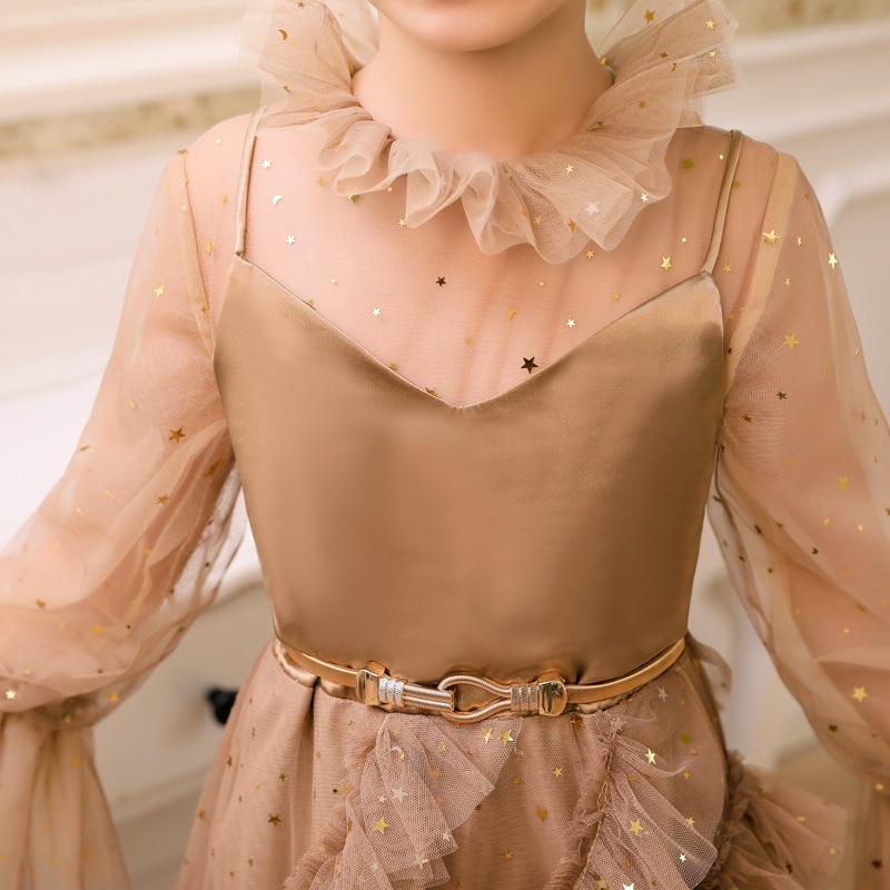 2019 mode nouvelle robe pour enfants modèle concours défilé longue robe de soirée robe de princesse Noble tempérament enfants dentelle robe - 6