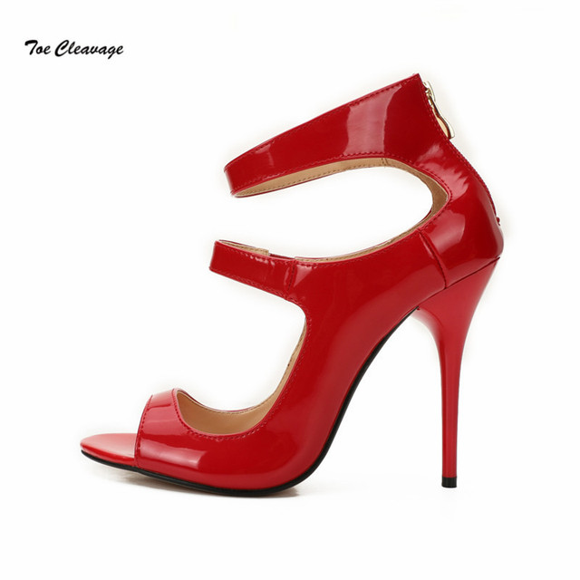 Hsm Novel Style Crossdresser Pumps Sexy Ankle Strap Woman Shoes Peep