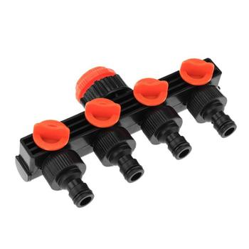 4 Way Faucet Connectors Hose Pipe Splitter Drip Irrigation System Garden Watering Kit Sprinklers Tap Connector