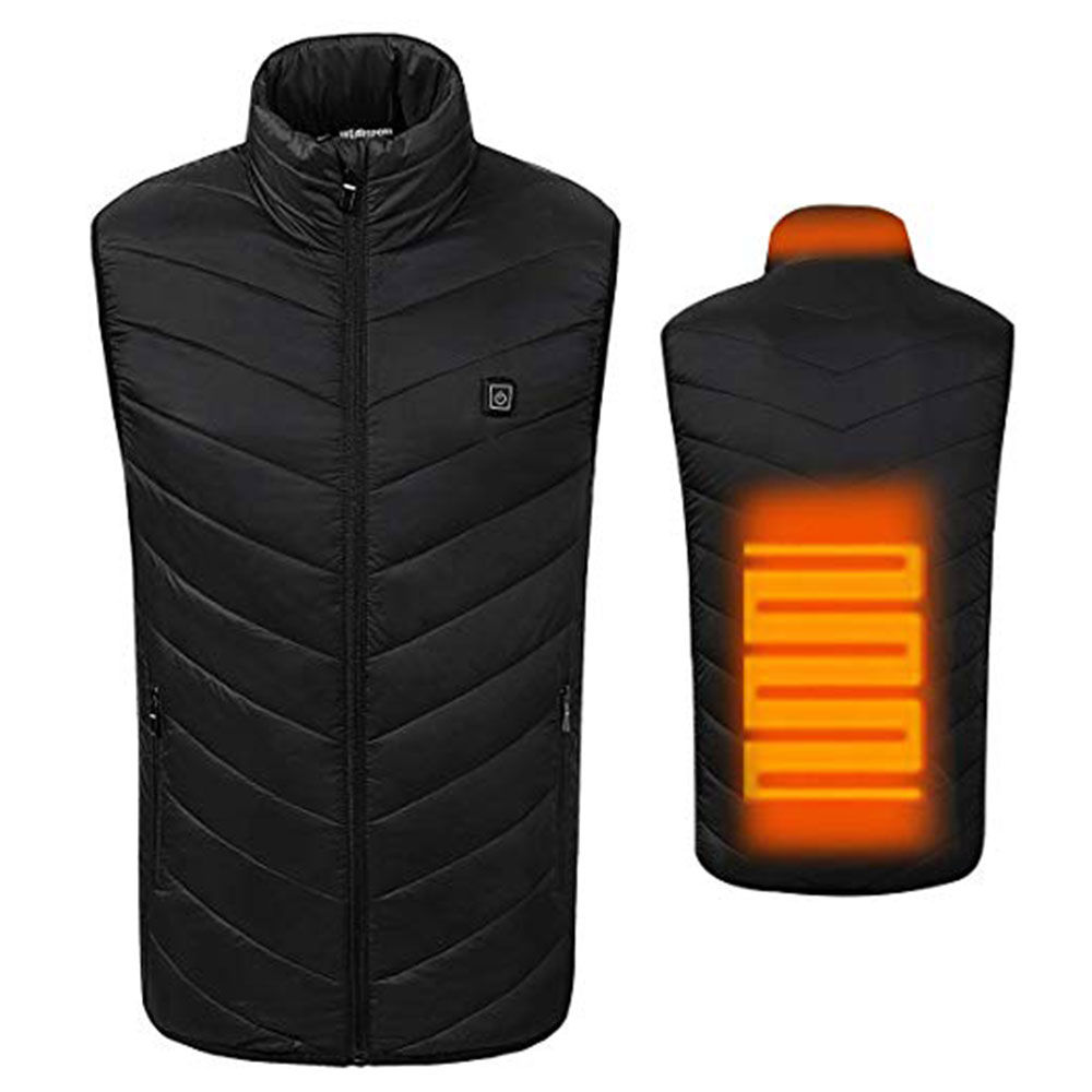 Электрический жилет с подогревом, Горячая черная USB грелка, без рукавов, хлопковое пальто с подогревом, куртка с подогревом, 5-12 В, физиотерапия
