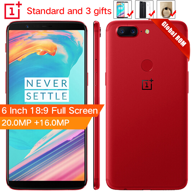 Stock Oneplus 5T 5 T 6 GB 64GB Snapdragon 835 Octa Core Smartphone 6.0120.0MP 16.0MP Dual Camera LTE 4G Android 7.1