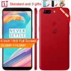 "Stock Oneplus 5T 5 T 6 GB 64GB Snapdragon 835 Octa Core Smartphone 6.01""20.0MP 16.0MP Dual Camera LTE 4G Android 7.1"
