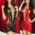 Women Sexy Lingerie Crochet Mesh Hollow Out Mini Chemise Dress  Kimono Erotic Lingerie Bodysuit Sleepwear Sexy Costume QQ025