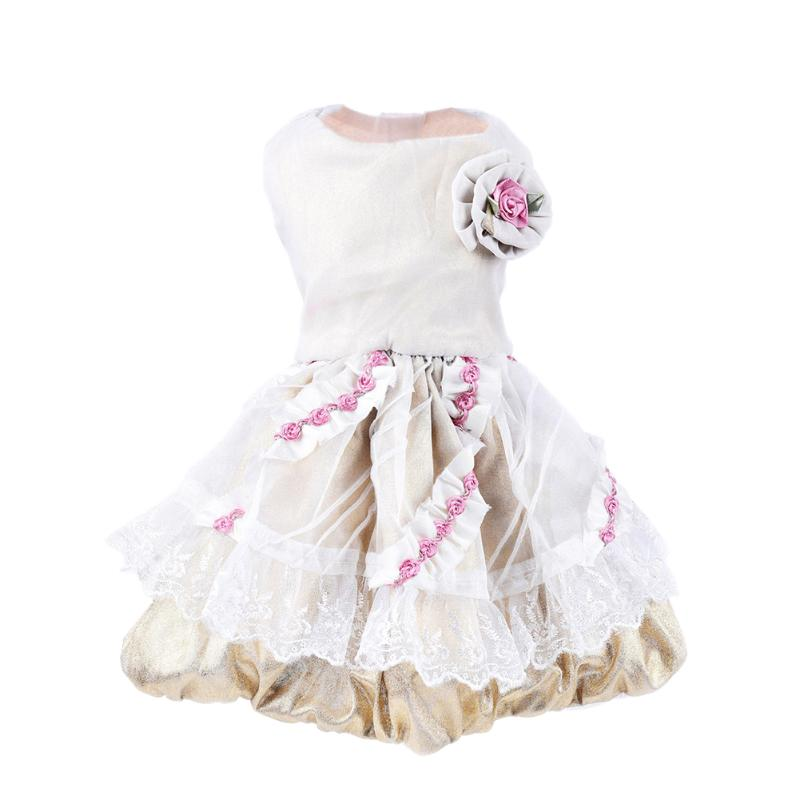 Summer Pet <font><b>Dog</b></font> <font><b>Dress</b></font> <font><b>Dogs</b></font> Gauze Princess <font><b>Dresses</b></font> Tutu Rose Flower Skirt <font><b>Dresses</b></font> Pet Cats Puppy Clothing Supplies S M L XL <font><b>XXL</b></font> image