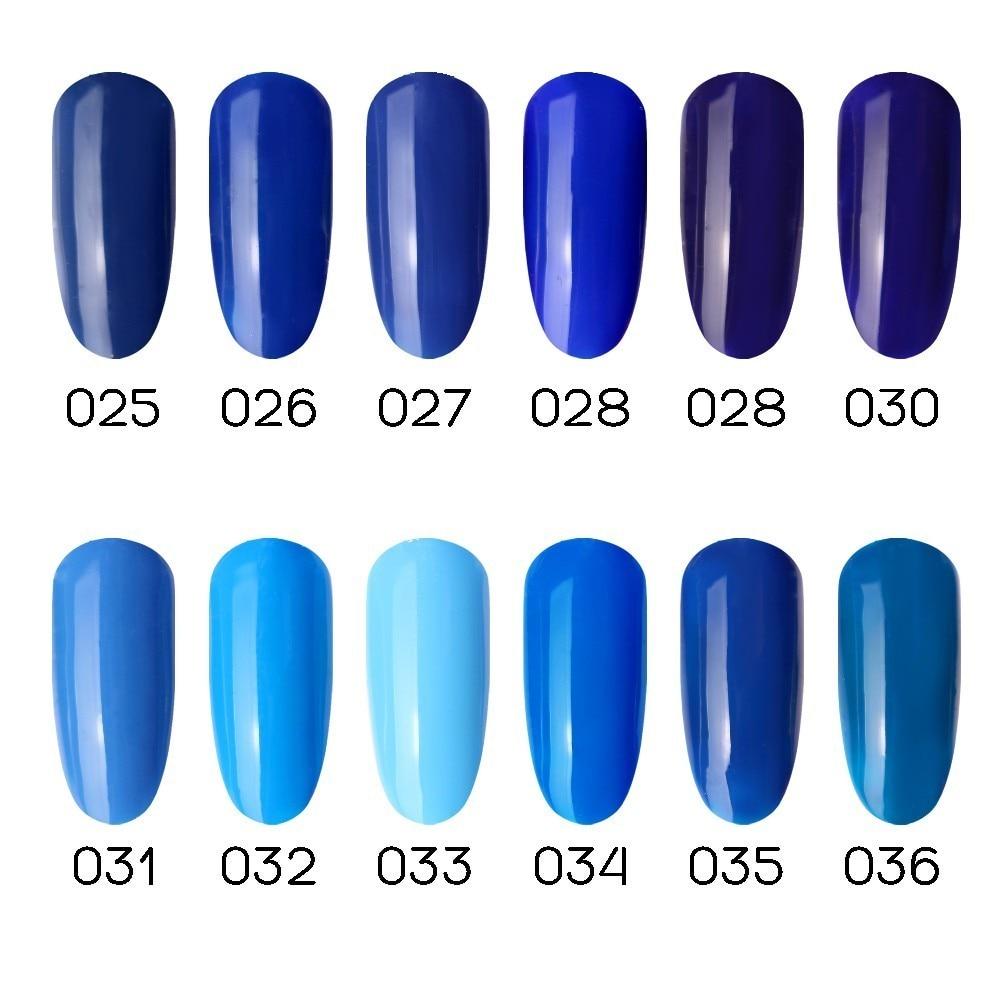 Hot Sale 1pc Eco-friendly UV LED Soak Off Nail Art Albastru Gel Nail - Manichiură - Fotografie 2