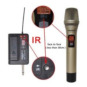 Image 5 - FREEBOSS FB U03 1M 1 Way 100 channel Metal Handheld Transmitter Wireless Microphone Camera Microphone Party Karaoke Microphone