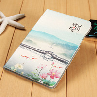 Tablets Case for Xiaomi Mi Pad 2 Hot Sale Chinese Classical Art Painting Tablet Case Floid Stand Cover Case Auto Sleep