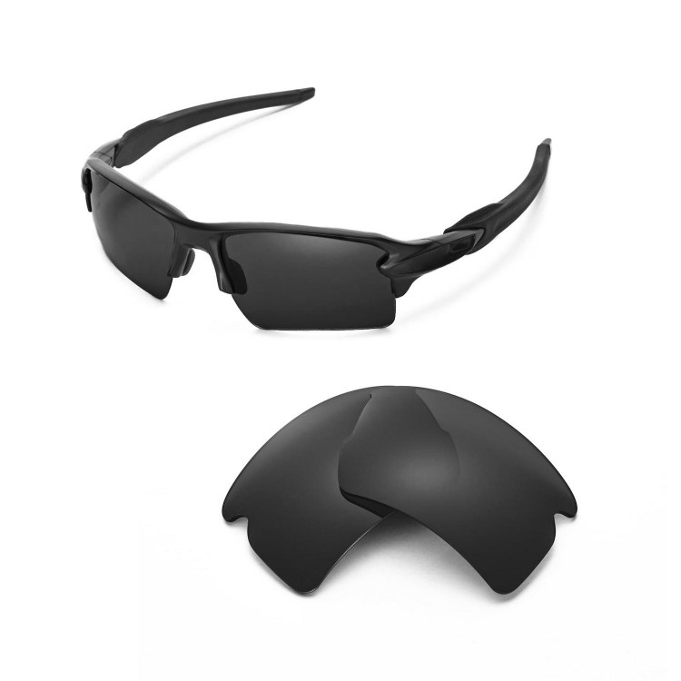 45ab092d40f Walleva Polarized Replacement Lenses for Oakley Flak 2.0 XL Sunglasses 7  colors available