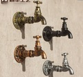14.5x11CM  Clothing store Flange Base Water tap pipe iron hook retro American style Faucet hook