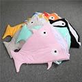 Libre de químicos de Tiburón de la Historieta Abrigo Infantil Del Edredón Kids Multifuncional Saco de Dormir de Algodón