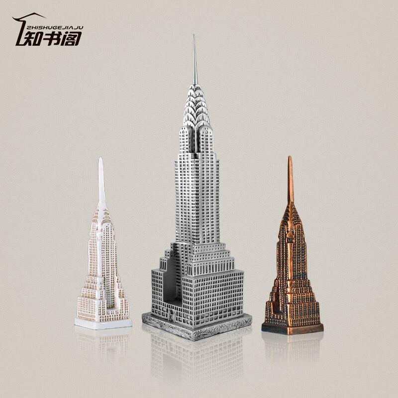 American skyscraper Chrysler Building Decoration Resin Crafts furnishings famous building models