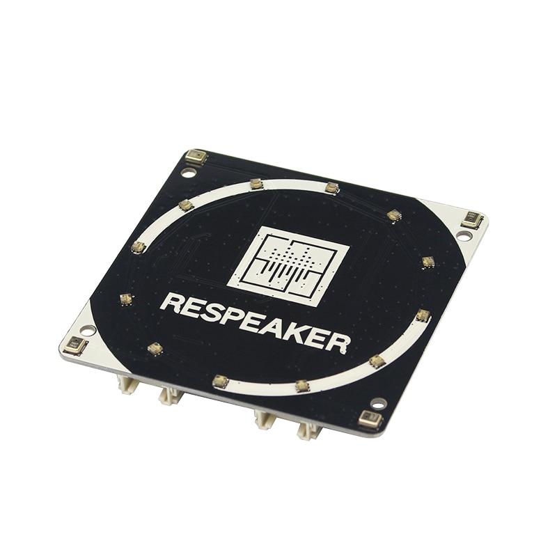 Pour ReSpeaker 4-Mic Tableau pour Raspberry Pi 3 B + 4 Microphones Tableau pour AI Voix Applications Quad-microphone Carte d'extension
