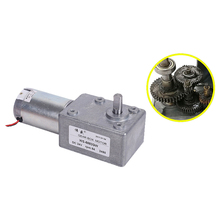 цены 5882GW micro worm gear motor / DC12V / 24V low speed DC gear motor / DC speed motor