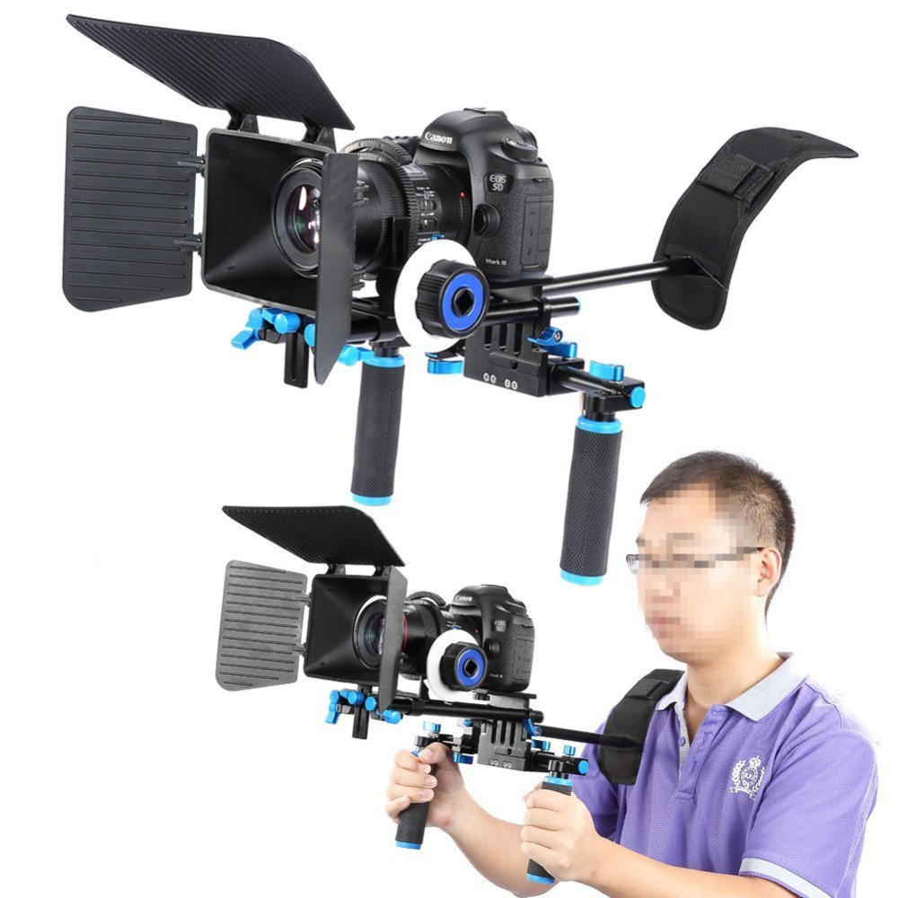 Neewer Rig Set Movie Kit Film Making System+Shoulder Mount Follow Focus+Matte Box for Canon/Nikon/Pentax/Olympus/Sony DSLR