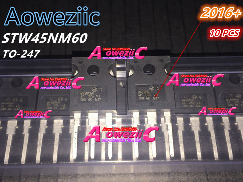 Aoweziic 2016+ 100 % 신규 수입 원래 W45NM60 STW45NM60 TO-247 FET 45A 600V