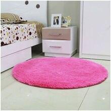 Kostenloser Versand Anti-slip Multi Farben 80-160 cm 3,5 cm Verdicken große Runde Boden Teppiche Für Wohnzimmer Badezimmer Kreis Matte teppich