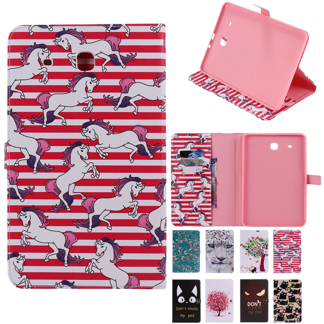 For Samsung Galaxy Tab E 9.6 T560 T561 Case Tablet Cover for Galaxy Tab E 9.6 inch T560 T561 Smart sleep Stand Card Holder cover