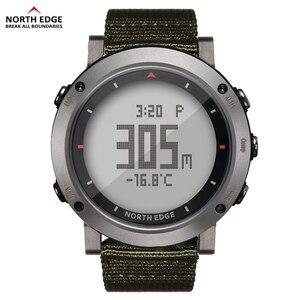 Image 3 - Esporte masculino relógio digital bandas de náilon horas running impermeável 50 m natação esporte relógios altímetro barômetro bússola masculino cor