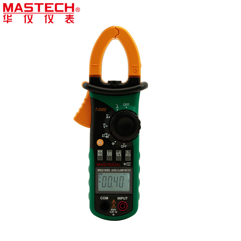 MASTECH MS2108S True RMS Digital AC DC Current Clamp Meter Multimeter Capacitance Frequency Inrush Current Tester 1 pcs mastech ms8269 digital auto ranging multimeter dmm test capacitance frequency worldwide store