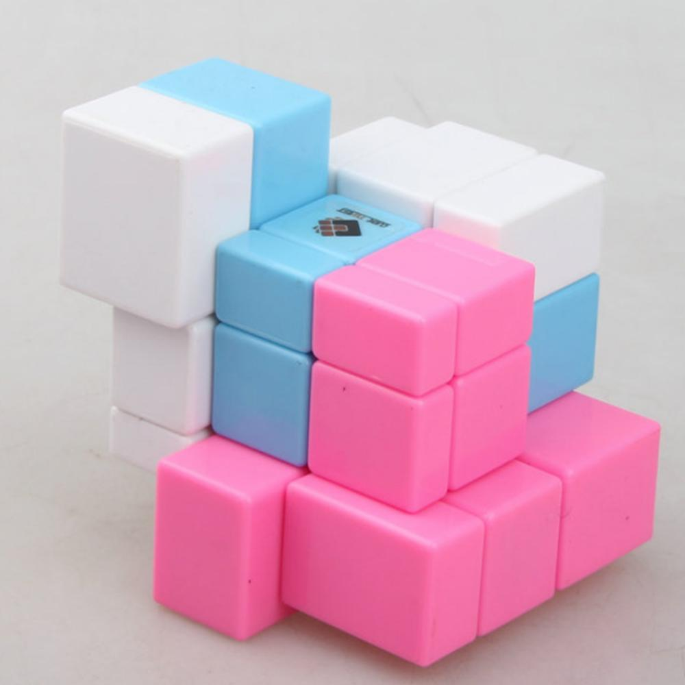 2019 New Arrivals Cube Twist 3-colors Spliced Mirror Magic Cube Puzzle Toy For Challenge - Color Random