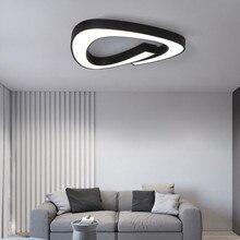 Siyah beyaz Led avize akrilik demir avizeler tavan oturma odası yatak odası mutfak 5cm Ultra ince aydınlatma armatürleri
