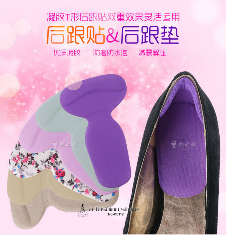 1Pack Shoe Heel Protectors Foot Care Gel Pad,Invisible Insole And Heel Grips For Shoes,Silicone Gel Insoles Cushion Pad X-13010