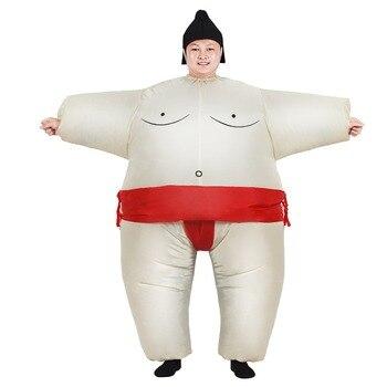 Disfraz inflable de Sumo Cosplay mono Unisex adecuado para adultos y niños fiesta carnaval Navidad Halloween Cosplay