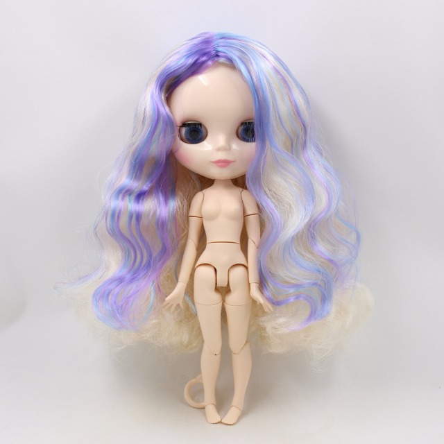 TBL Neo Blythe Doll Golden Purple Blue Hair Jointed Body