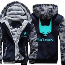 tracksuits Camouflage color Hoodies harajuku fitness wool liner noctilucous Hooded men fleece Thicken Zipper Jacket coats 2019