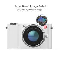 YI M1 Mirrorless Digital Camera Prime Zoom LCD 2 Lens Minimalist BLE WIFI RAW 20MP Video Recorder International Version White 2