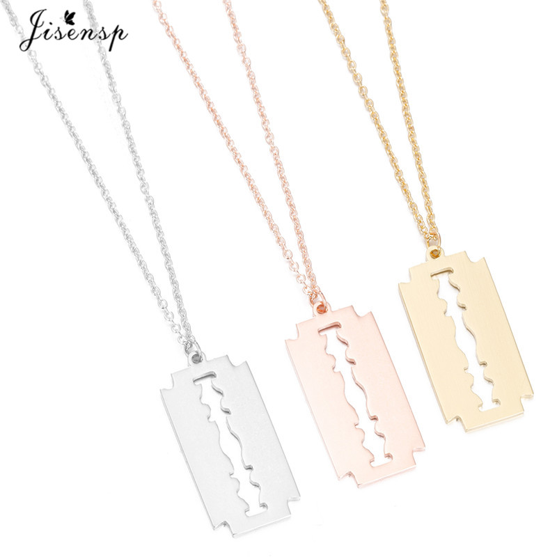 Razor blade necklace_