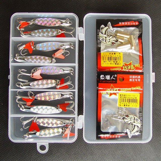 Free shipping,New Arrivals Fishing Lure Metal Spoon/Spinner 10g/60mm 10pcs/box