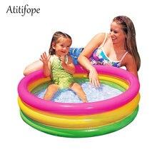 Круглый Радужный бассейн для водных игр ванная Детская ванна