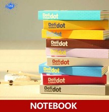 Delicious dot rainbow inner pages cute daily memo notebook , candy color notepad / dairy