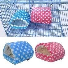 Jaula suave de peluche para casa de conejillo de indias para hámster Mini Animal rata ratones nido cama hámster casa productos pequeños para mascotas