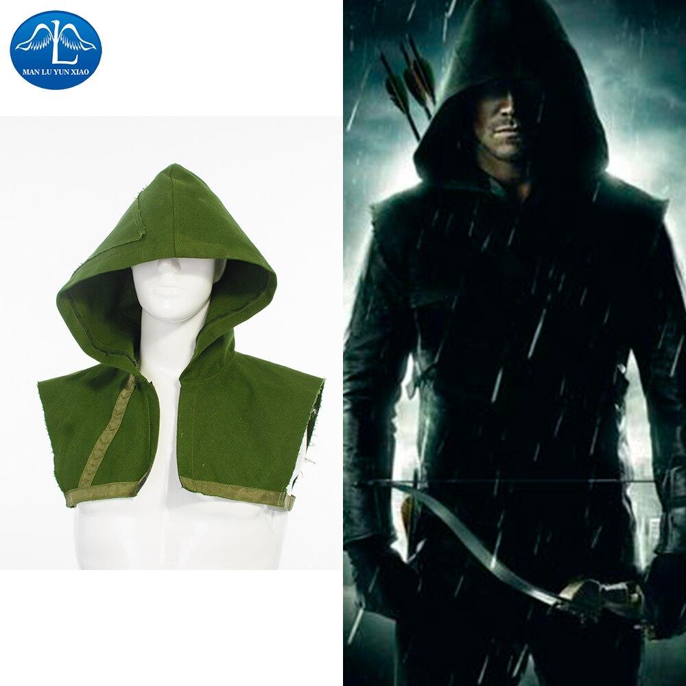 MANLUYUNXIAO New Green Arrow Hoodie Oliver Queen Hoodies Carnival Halloween Costume Wholesale