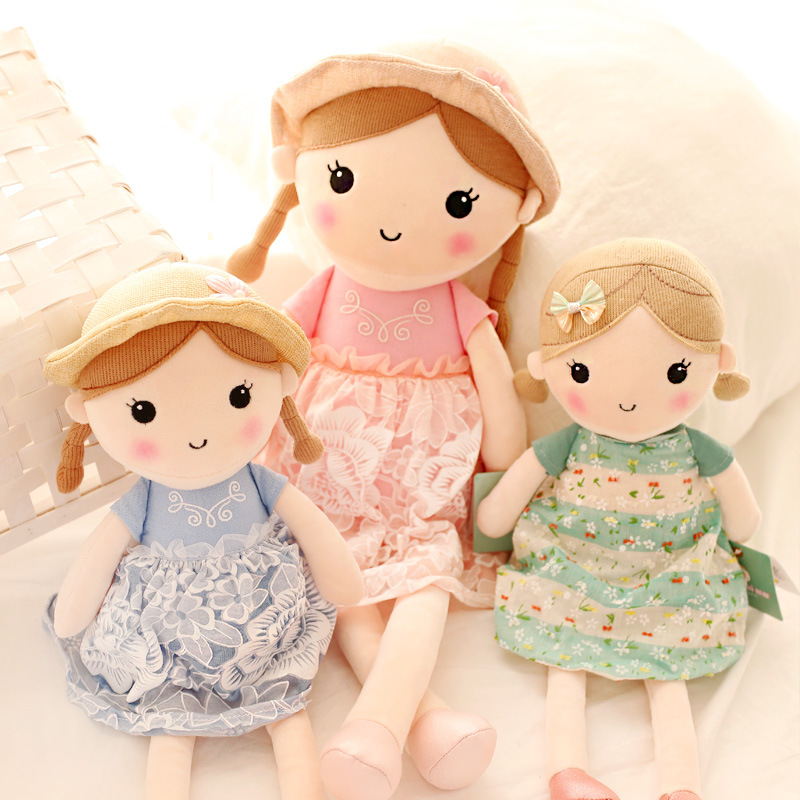 New arrival spring girl princess big size doll plush toy childrens Day present
