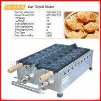 Commercial Stainless Steel Taiyaki Machine Nonstick Gas Japanese Fish Waffle Taiyaki Maker Baker 6 Molds