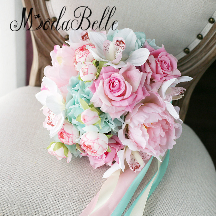 Buy modabelle pink bridal bouquet de for Bouquet de fleurs 2017