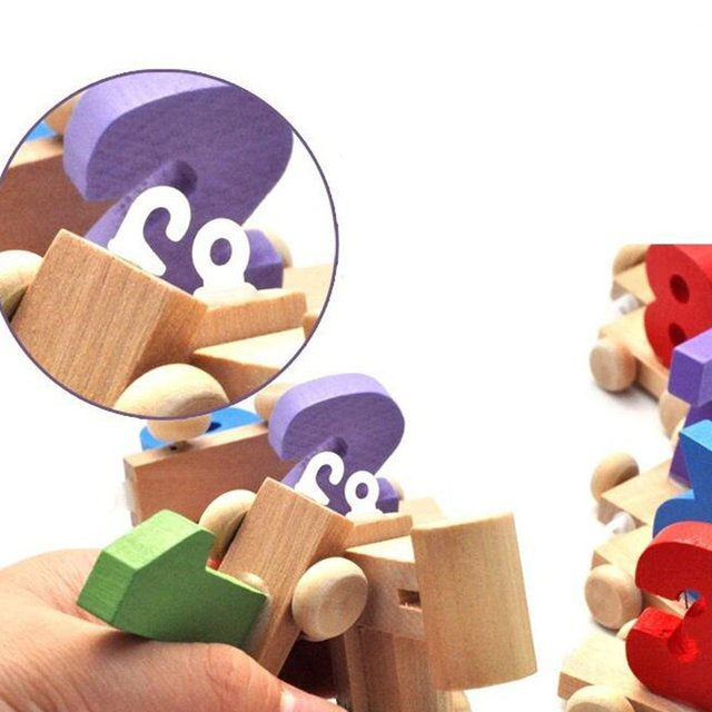 Counting Educational Wooden Train Toy