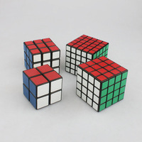 2x2x2 3x3x3 4x4x4 5x5x5 Pocket Puzzle Cube Game for Kids Plastic Sticker Speed Mini sorcery Cube & Stickers Cube Square 4pcs