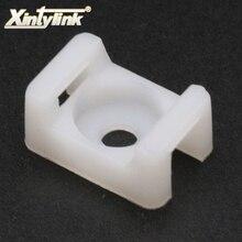 Xintylink фиксированное сиденье 100 шт. седло типа буддла пластиковый держатель кабельные стяжки крепления провода База на молнии крепление База аксессуары для проводки