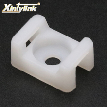 xintylink fixed seat 100pcs buddle saddle type plastic holder cable tie mounts wire base zip mount base Wiring accessories