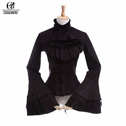 High-Quality-Poplin-Black-Girls-Women-Gothic-Lolita-Blouse-Women-Cosplay-Shirt-long-Sleeve-Lolita-Costume