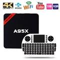 Max 2 gb de ram + 16 gb rom nexbox a95x inteligente caixa de tv android android 6.0 64Bit S905X Amlogic Quad core WiFi 4 K HD Media Player PK X96