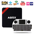 Max 2 gb ram + 16 gb rom nexbox a95x inteligente cuadro de tv android android 6.0 64Bit S905X Amlogic Quad core WiFi 4 K Reproductor Multimedia HD PK X96