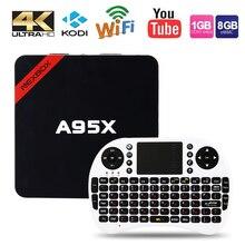 Max 2GB RAM+16GB ROM NEXBOX A95X Smart Android TV Box Android 6.0 Amlogic S905X Quad core 64Bit WiFi 4K HD Media Player PK X96