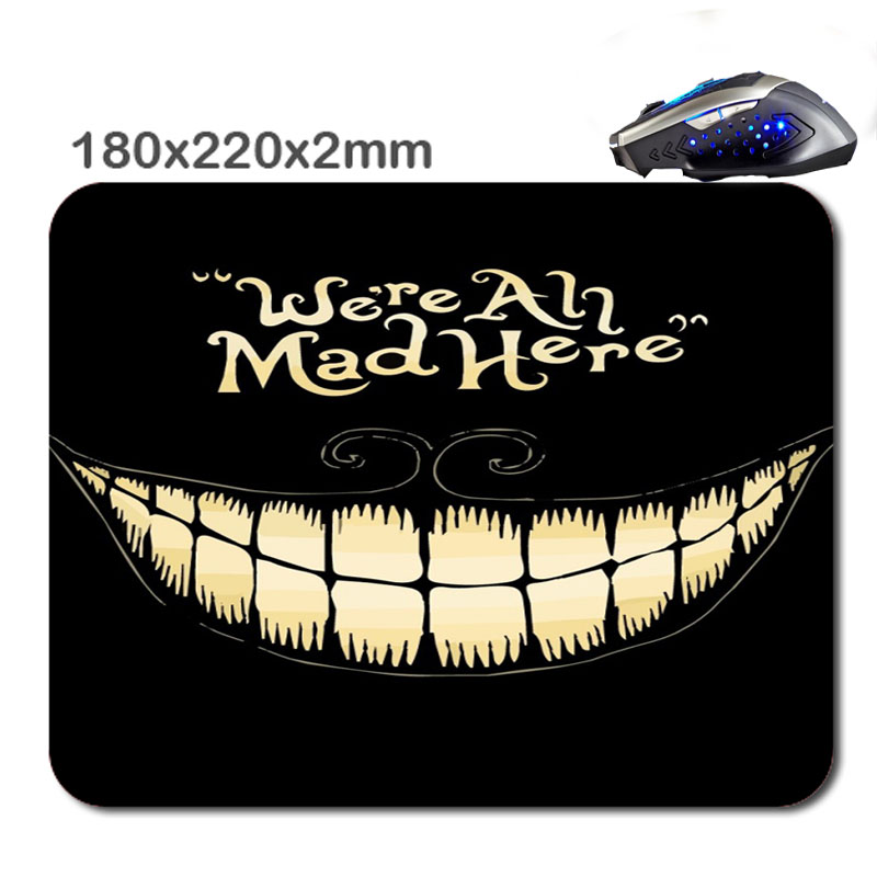 HOT SALES Custom Antiskid 3 D We Re All Mad Here 220 X180x2mm Office Accessory Tablet