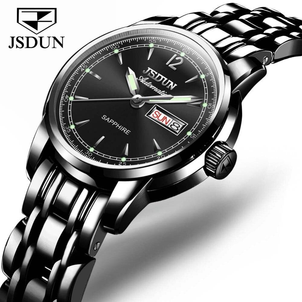 JSDUN Fashion Luxury Women Watches Sapphire Star Automatic Mechanical Watch Woman Luminous Relogio Feminino reloj mujer clock