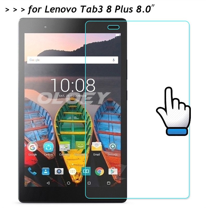 For Lenovo Tab3 8 Plus Tempered Glass 9H Screen Protector Protective Film On Tab 3 P8 8703 8703X TB-8703F TB-8703X TB-8703N 8.0